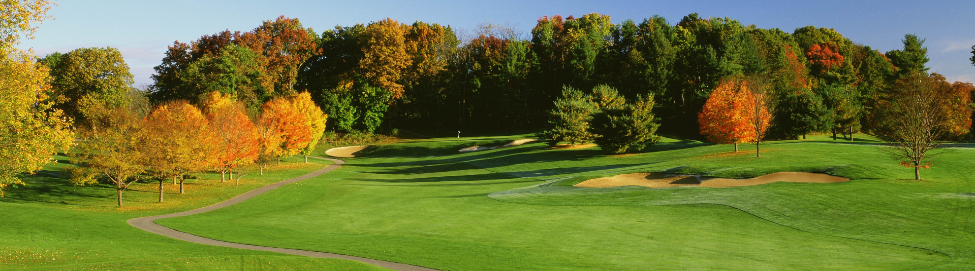 The greens look lush on a sunny day at Casperkill Golf Club in Poughkeepsie